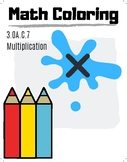 3rd Grade Math Coloring Pictures, Multiplication