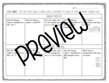 3rd Grade Math Common Core-Aligned Guided & Independent Practice Pages