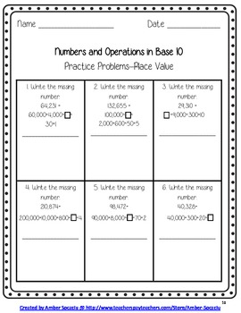 Common Core Aligned Math Practice Sheets for 3rd Grade with 5 Scoot Activities