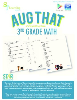 3rd Grade Math Common Core - Augmented Reality - 22 Animated Lessons Bundle