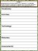 3rd Grade Math Common Core Checklist - Lesson Planning Form - Panda