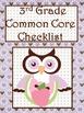 3rd Grade Math Common Core Checklist - Lesson Planning Form - Owl - Purple