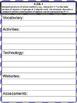 3rd Grade Math Common Core Checklist - Lesson Planning Form - Purple Chevron