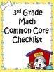 3rd Grade Math Common Core Checklists - Lesson Planning Form - Fun Dog Theme