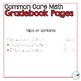 3rd Grade Math Common Core Gradebook Pages **EDITABLE**