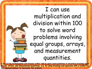 "3rd Grade Math Common Core ""I Can"" Posters"
