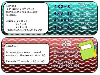 "3rd Grade Math Common Core ""I Can"" Statements"
