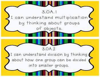 3rd Grade Math Common Core I Can posters