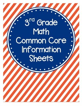 3rd Grade Math Common Core Information Sheets