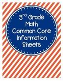 3rd Grade Math Common Core Information Sheets