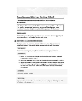 Third (3rd) Grade Math Common Core Lessons and Activities