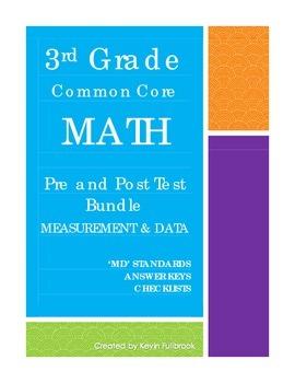 3rd Grade Math Common Core Measurement & Data Assessments