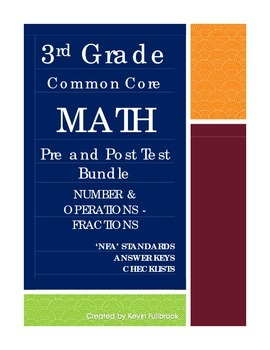 3rd Grade Math Common Core Number and Operations - Fractions Assessments