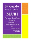 3rd Grade Math Common Core Number and Operations in Base Ten Assessments