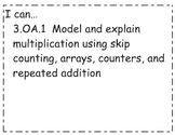 3rd Grade Math Common Core Objectives