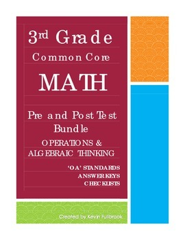 3rd Grade Math Common Core Operations & Algebra Assessments
