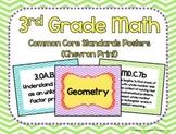 3rd Grade Math Common Core Posters- Chevron Print