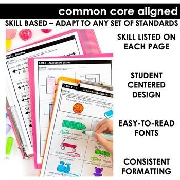Third Grade Math Skill Checks | Full Year Bundle