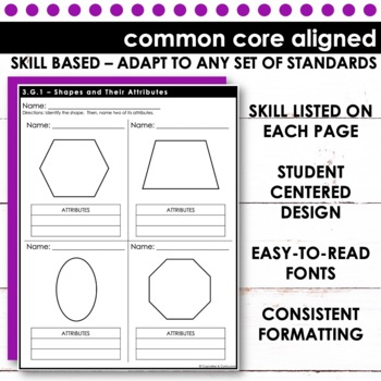 Third Grade Math Skill Checks: Geometry