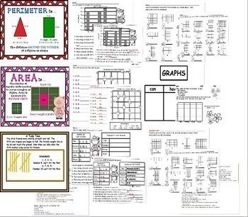 Third Grade Math Geometry Area and Perimeter Unit