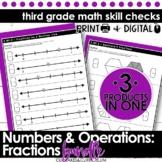 Third Grade Math Skill Checks: Fractions