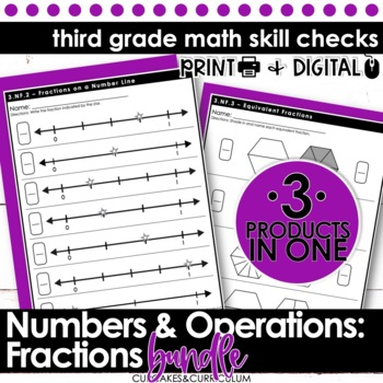 Third Grade Math Skill Checks: Fractions
