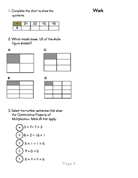 3rd Grade Math Common Core Review Book 2