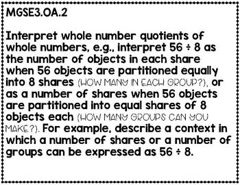 Third Grade Math Georgia Standards of Excellence