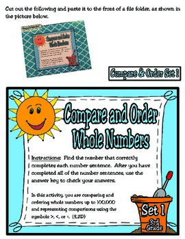 3rd Grade Math: Compare and Order File Folder Activities
