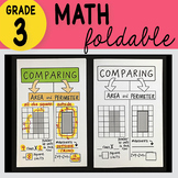 Doodle Notes - 3rd Grade Math Comparing Area and Perimeter