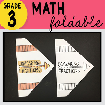 Doodle Notes - 3rd Grade Math Comparing Fractions Foldable