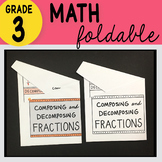Doodle Notes - 3rd Grade Math Composing and Decomposing Fractions Foldable