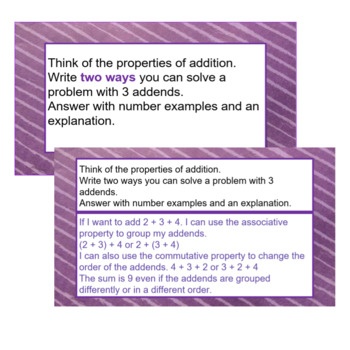 3rd Grade Math Constructed-Response Practice