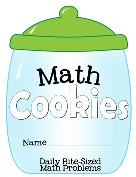 3rd Grade Math Cookies Bite-Sized Math Problems Common Core Aligned-Batch 3