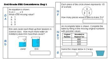 3rd Grade Math: Countdown to FSA