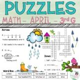 3rd Grade Math Crossword Puzzles - April