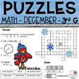 3rd Grade Math Crossword Puzzles - December