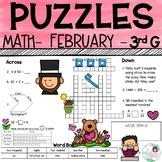3rd Grade Math Crossword Puzzles - February