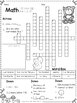 3rd Grade Math Crossword Puzzles - October