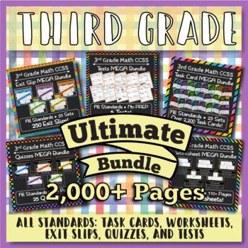 3rd Grade Math Curriculum Bundle: 3rd Grade Math Review, Yearlong Math Bundle