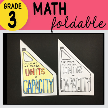 Doodle Notes - 3rd Grade Math Customary & Metric Units of Capacity Foldable