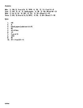 3rd Grade Math Daily Review Week 3