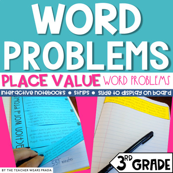 3rd Grade Math Daily Word Problems: Place Value {Set 2}