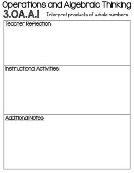 3rd Grade Math Data Binder - All Common Core State Standards (CCSS)