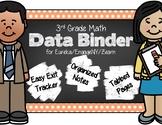 3rd Grade Math Data Binder & Exit Ticket Tracker - Eureka/EngageNY/Zearn