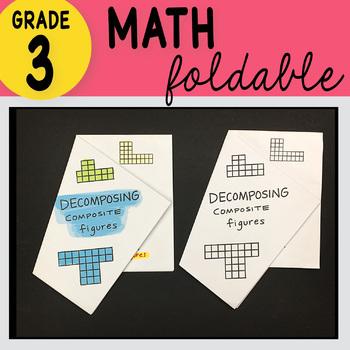 Doodle Notes - 3rd Grade Math Decomposing Figures Foldable