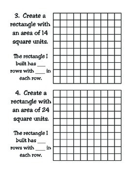 3rd Grade Math: Determining Area Using Grid Paper TEKS 3.6C