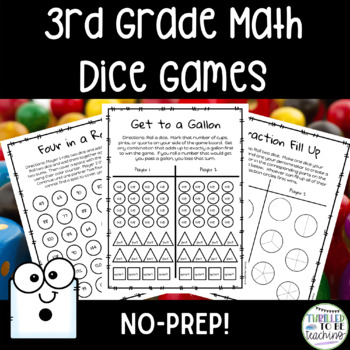 3rd Grade Math Dice Games