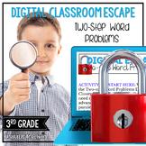 3rd Grade Math Digital Escape Room | 3.OA.8 Word Problems