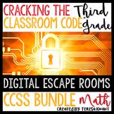 3rd Grade Math Digital Escape Room CCSS Bundle Distance Learning